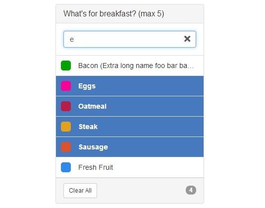 Pretty jQuery Searchable Multi Select Box For Bootstrap - selectr