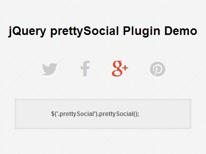 Pretty jQuery Social Media Sharing Plugin - prettySocial
