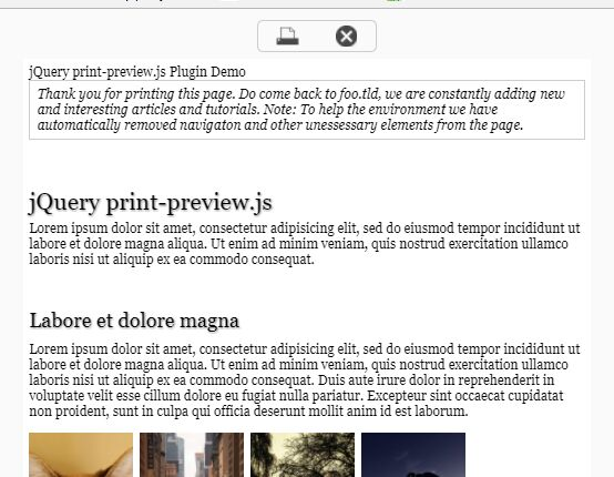 jQuery Plugin To Print Any Part Of Your Page - Print | Free