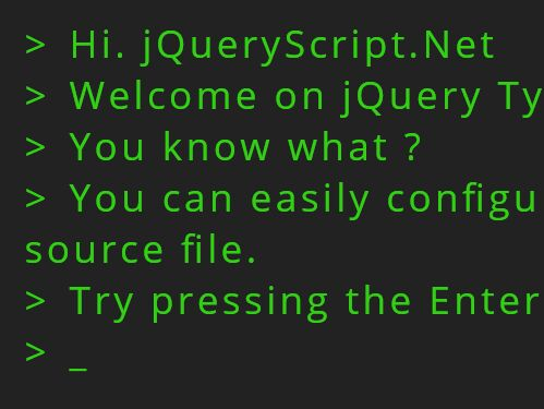 Print Text Line-by-line With Typing Effect - jQuery TypeWriter