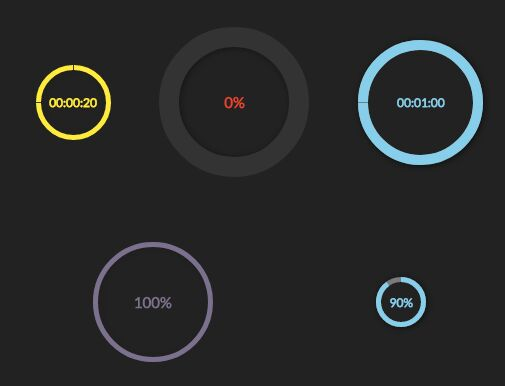 Circular Progress Bar And Countdown Timer With jQuery - circlebars