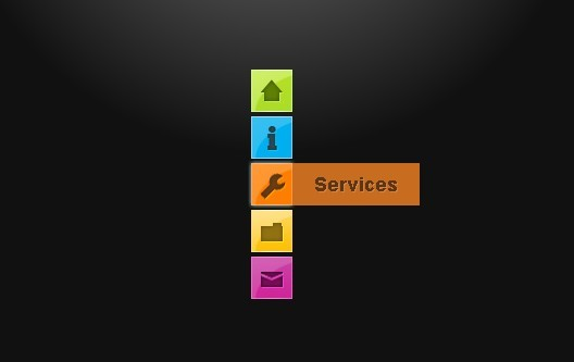 Pure CSS3 Navigation Menu with Animated Effect
