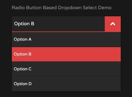 Radio Button Based Dropdown Select With Jquery And Css3