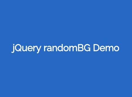 jQuery Plugin For Random Background Color - randomBG