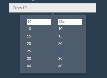 Easy Range Picker Plugin For Bootstrap - bootstrap-range