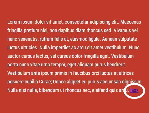 Basic Read More / Read Less Plugin With jQuery - shorten.js