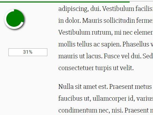 Customizable Reading Progress Plugin For jQuery - article-progress