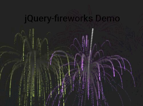 Realistic Fireworks Animations Using jQuery And Canvas - fireworks.js