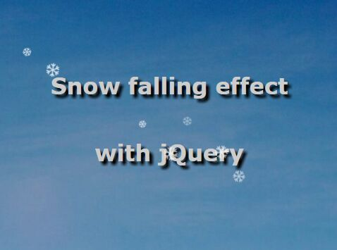 Realistic Snow Falling Effect with jQuery and CSS3 - snow.js