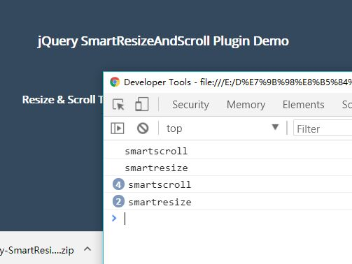 Smart Resize And Scroll Events Detection In jQuery