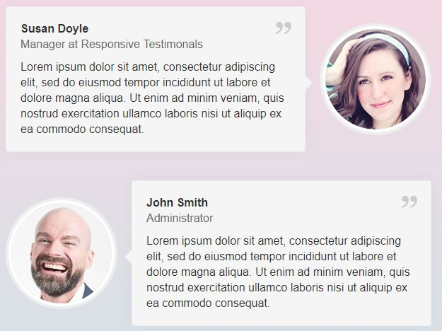 Responsive Customizable Testimonials Plugin With jQuery