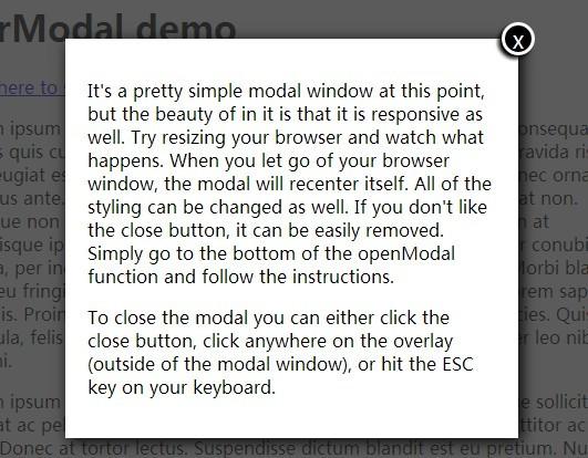Responsive & Auto-Centering Modal Window Plugin with jQuery - egrModal