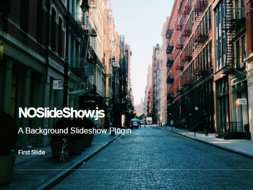 Responsive Background Slideshow Plugin For jQuery - NOSlideShow
