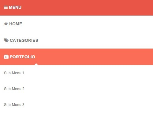Responsive Flat Dropdown Menu with jQuery and CSS3 | Free