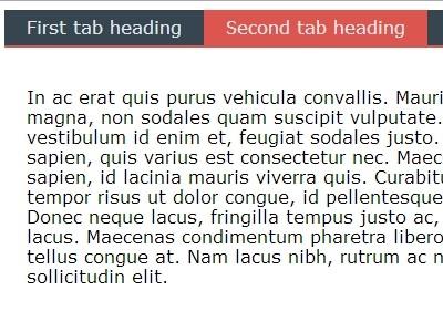 Responsive Flat jQuery Tabs Plugin - Form5 Tabs