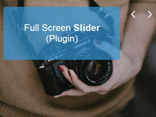 Responsive Full Screen Background Slider Plugin For jQuery