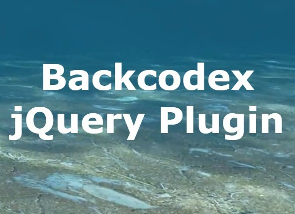 Responsive Fullscreen Background Video Plugin - Backcodex