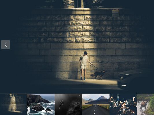 Minimal Responsive Gallery With Thumbnail Nav - jQuery Gallery.js