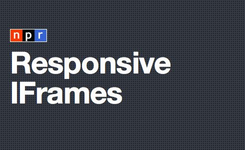 Responsive IFrames Plugin For jQuery