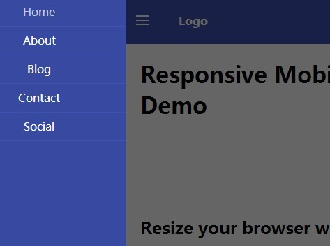 Responsive Mobile Off-canvas Menu with jQuery and CSS3
