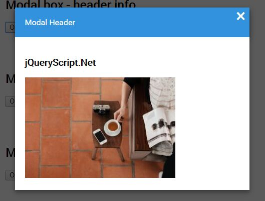 Simple Responsive Modal Popup Plugin For jQuery - ModalBox