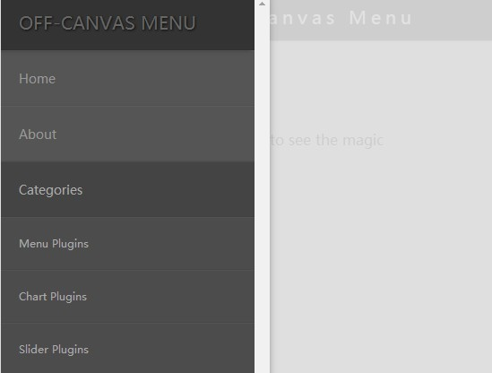 Responsive Multi-Level Off-canvas Navigation Plugin - Navpad Menu
