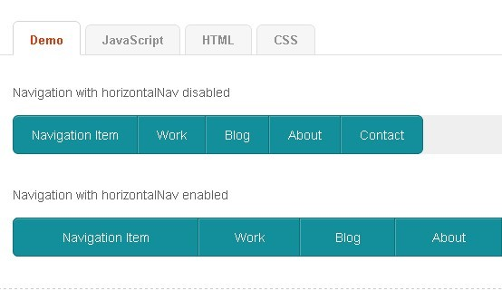 Responsive Naviagtion Menu with jQuery - HorizontalNav