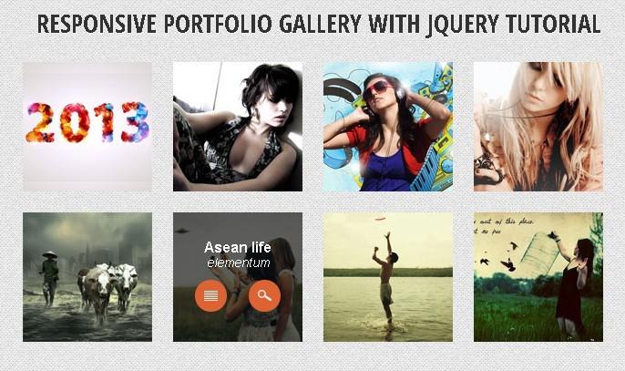 Responsive Portfolio Gallery with Jquery