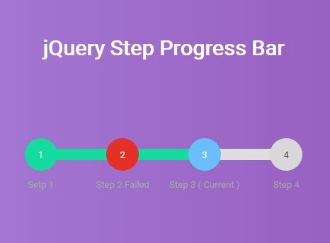 Canvas Based Step Progress Bar With jQuery - Stepbar | Free