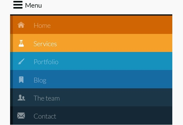 Responsive & Retina-Ready Menu with Size-Dependent Layouts