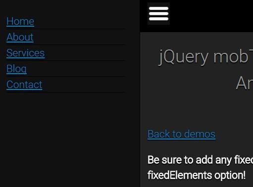 Responsive Revealing Navigation Menu Plugin For jQuery - mobTabMenu
