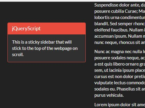 Responsive Customizable Sticky Anything Plugin - jQuery