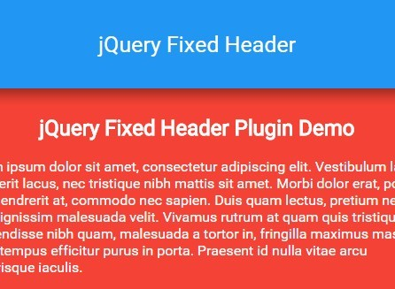 Responsive Sticky Header Plugin For jQuery - Fixed Header