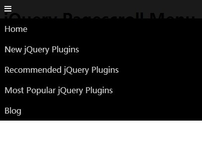 Responsive Sticky Navigation Menu Plugin with jQuery and CSS3 - Pagescroll Menu
