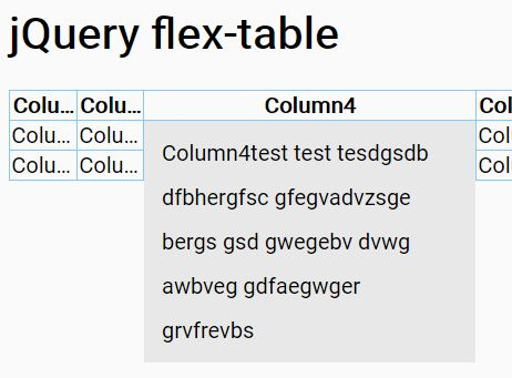 Responsive Flexible Table Plugin For jQuery - flex-table