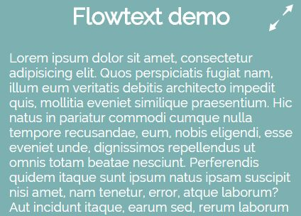 Responsive Text Resizing Plugin With jQuery - FlowText