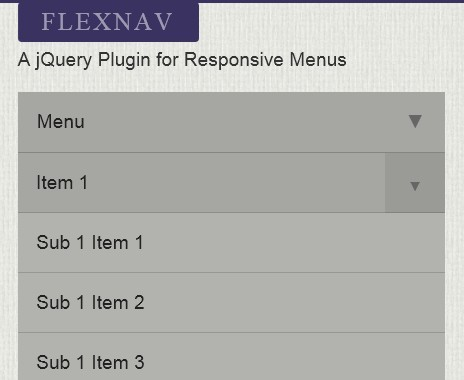 Responsive and Touch-Friendly jQuery Menu Plugin - Flexnav
