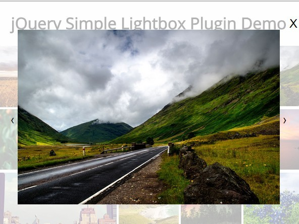Responsive Touch-enabled jQuery <font color='red'><font color='red'>image</font></font> Lightbox Plugin