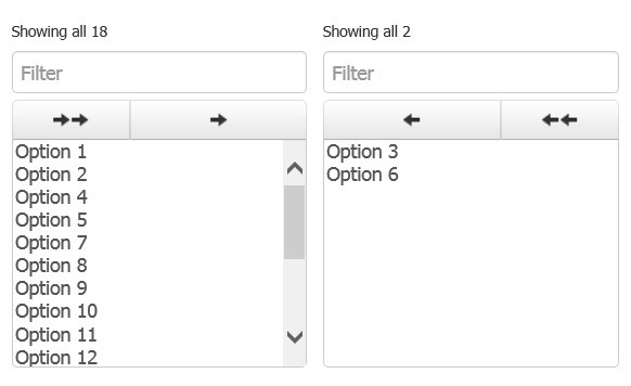 Responsive jQuery Dual Select Boxes For Bootstrap - Bootstrap Dual Listbox