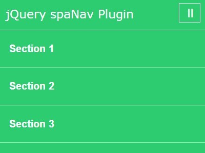 Responsive jQuery Navigation For One Page Scrolling Website - spaNav