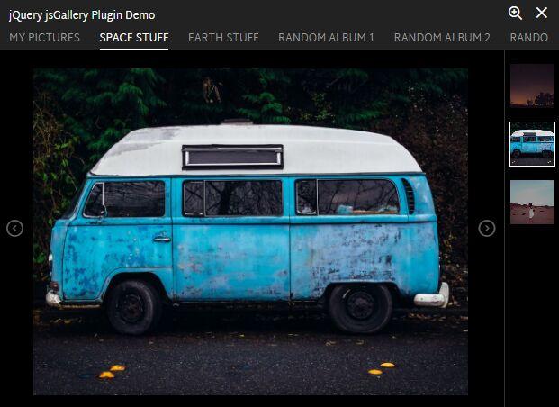 Responsive jQuery Photo Album Gallery Plugin - jsGallery