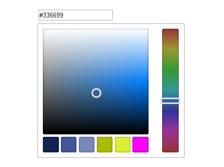 Retina Ready JQuery Color Picker With CSS3 Gradients