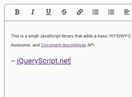 Basic Rich Text Editor Using jQuery And Document.designMode