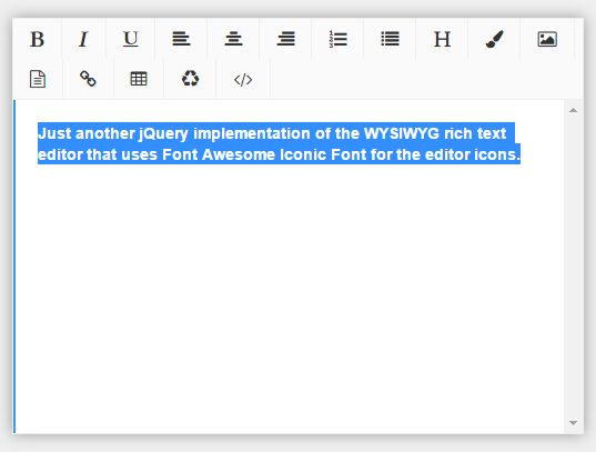 Minimal Rich Text Editor With jQuery And FontAwesome