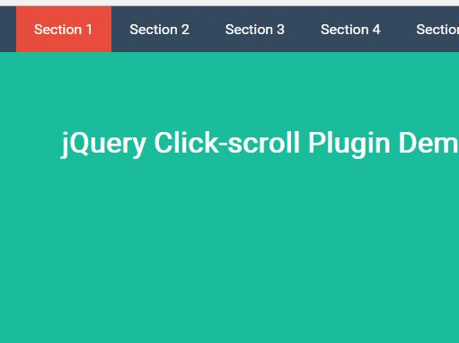 Minimal Scrollspy And Smooth Scroll Plugin - jQuery Click-scroll
