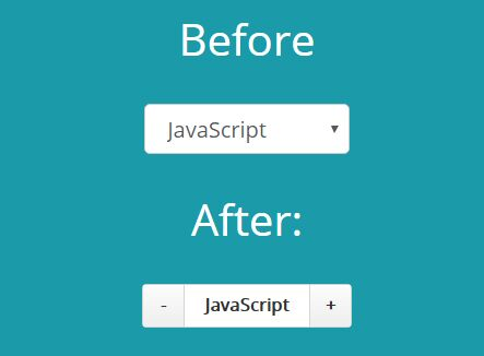 Select Based Input Spinner Plugin For jQuery - Select Step