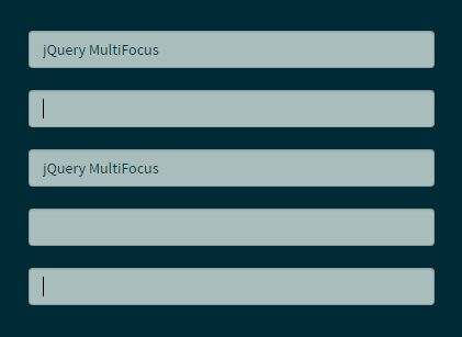 Set Focus On Multiple Input Fields At The Same Time - jQuery MultiFocus
