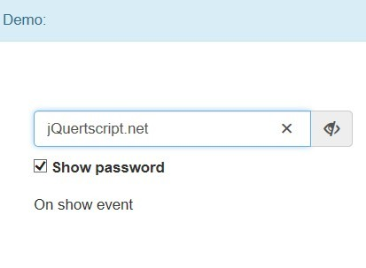 Show/Hide Password Field Text with jQuery and Bootstrap
