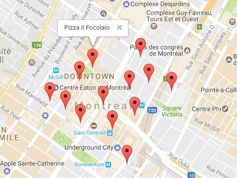 Show Nearby Places Using Jquery And Google Maps