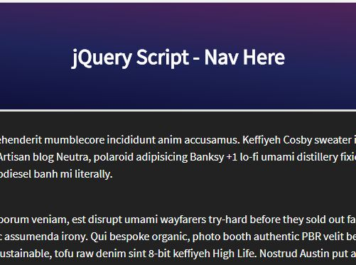 Shrink Sticky Header Nav On Scroll With jQuery And CSS3